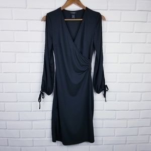 A13- Express Black Open Sleeve Career Dress